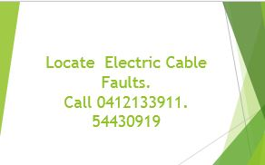 Underground and in building cable fault location.